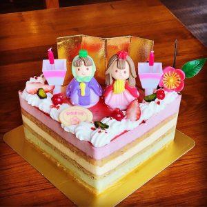 ひな祭りケーキ2020